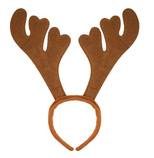 Brown Reindeer Antlers On Headband