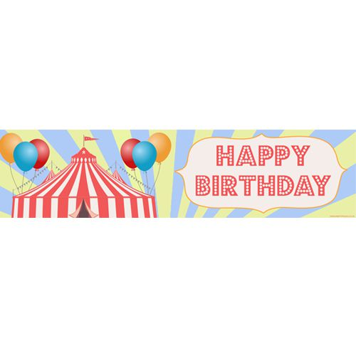 Circus Happy Birthday Banner- 1.2m