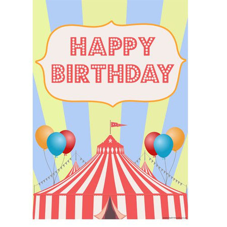Click to view product details and reviews for Circus Happy Birthday Poster A3.