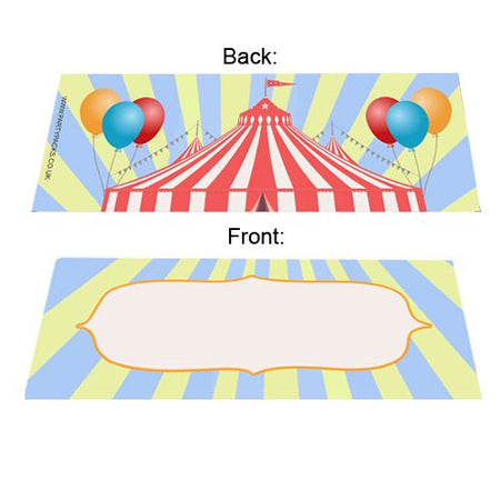Circus Placecards - Pack of 8