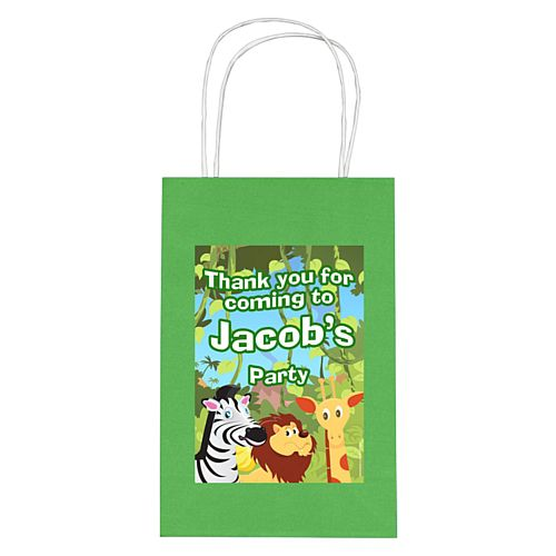 Personalised Wildlife Paper Party Bags - Pack of 12