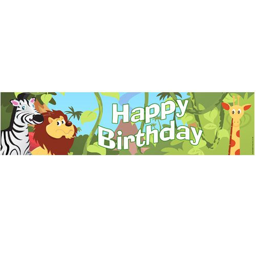 Wildlife Happy Birthday Banner 1.2m