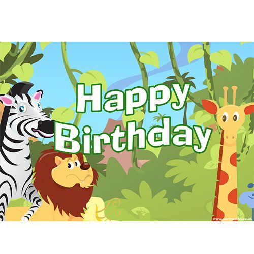 Wildlife Happy Birthday Poster - A3