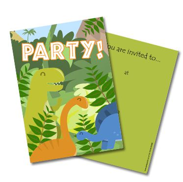 Dinosaur Invites - Pack of 8
