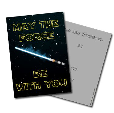 Star Wars Invites- Pack Of 8