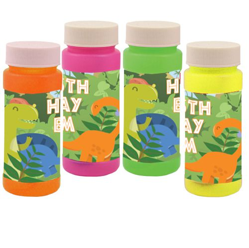 Personalised Bubbles- Dinosaur- Pack Of 6