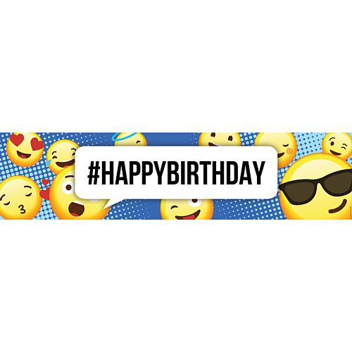 Emoji Happy Birthday Banner - 1.2m