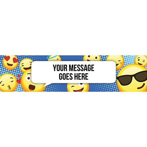 Emoji Happy Birthday Personalised Banner - 1.2m