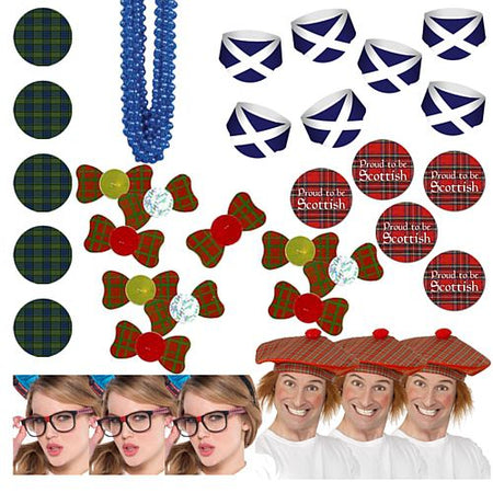 Scottish Themed Fancy Dress Pack For 10 People
