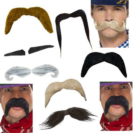 Novelty Moustaches- Pack Of 10
