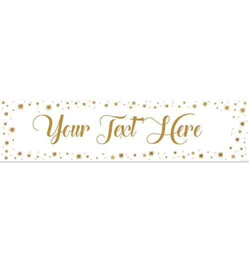 Gold Stars Personalised Banner - 1.2m