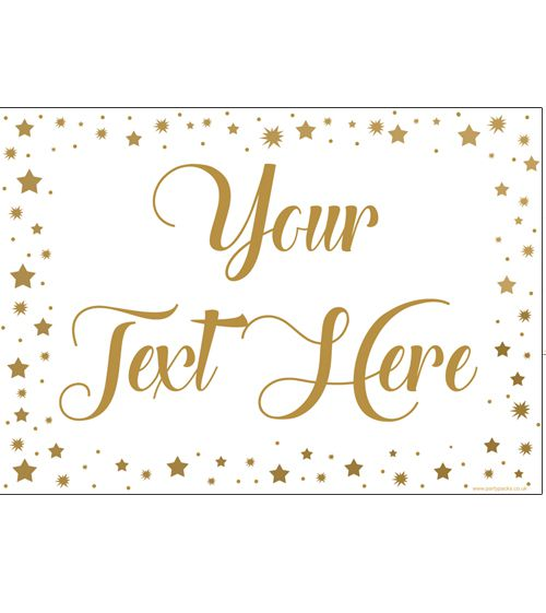 Gold Stars Personalised Poster- A3
