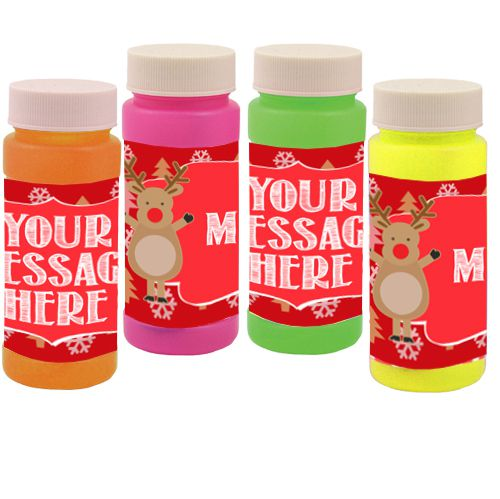 Personalised Bubbles- Rudolph Christmas- Pack of 6