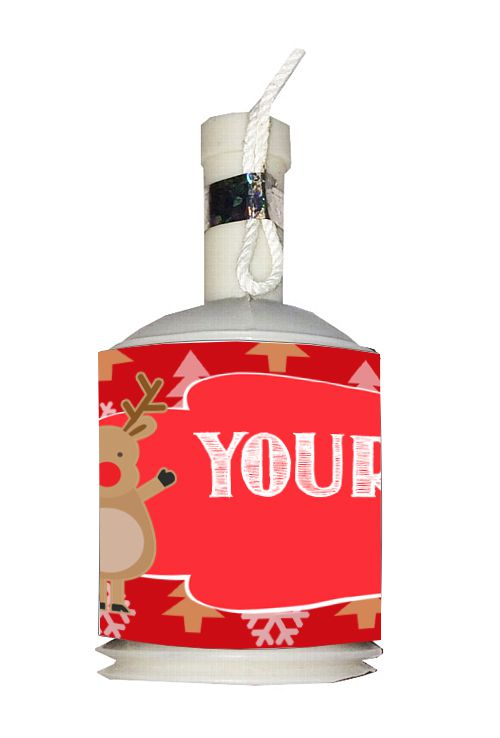 Personalised Party Poppers Kit- Rudolph- Pack of 18