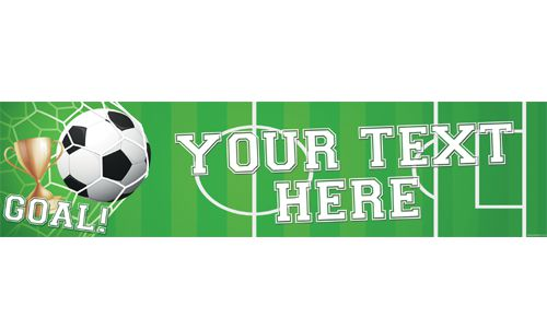 Football Personalised Banner - 1.2m