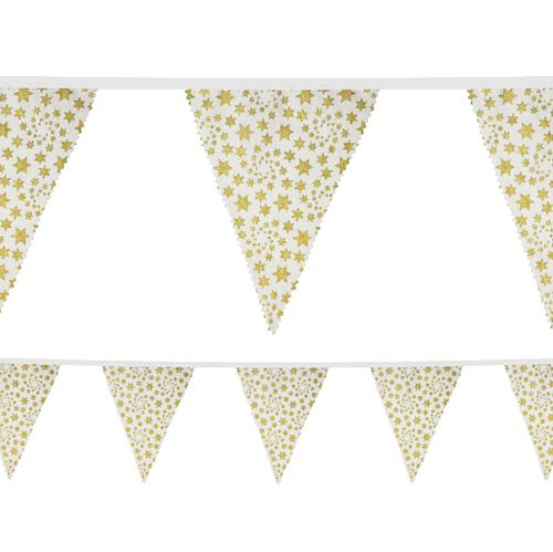 Gold Star Fabric Bunting - 4m