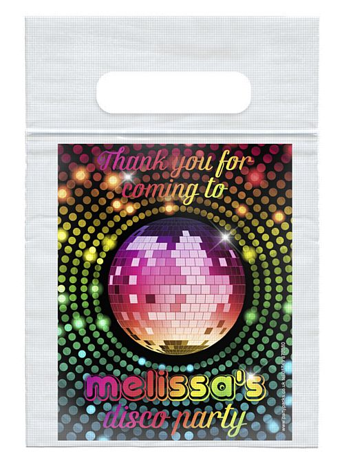 70's Disco Personalised Sealed Party Bag - Each