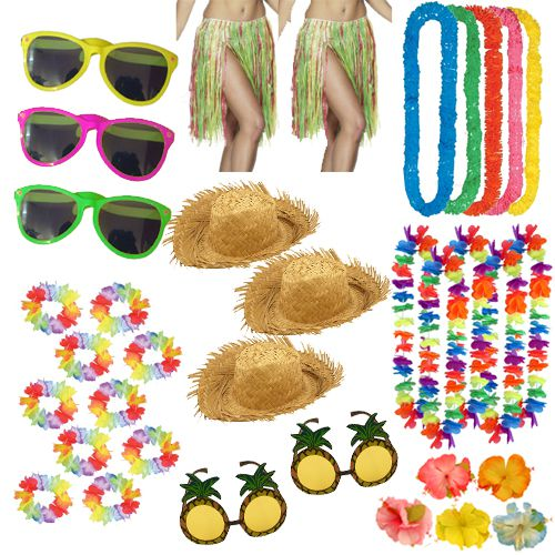 Tropical Hawaiian Fancy Dress Pack For 10 People