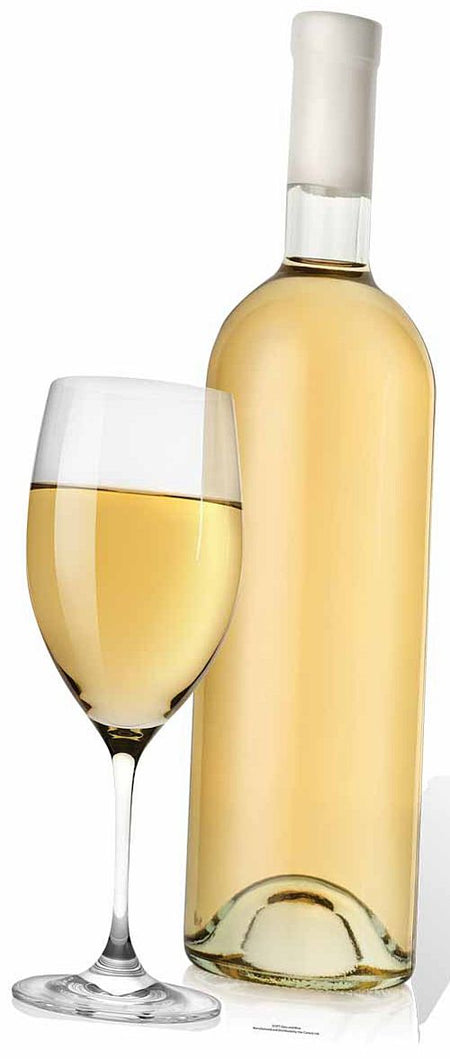 Click to view product details and reviews for Glass And White Wine Bottle Cutout 89cm.