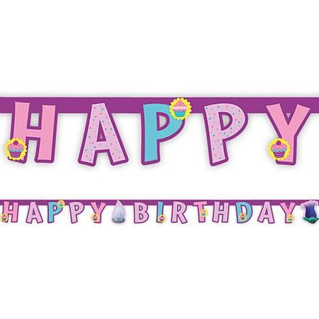 Click to view product details and reviews for Trolls Happy Birthday Letter Banner 19m.