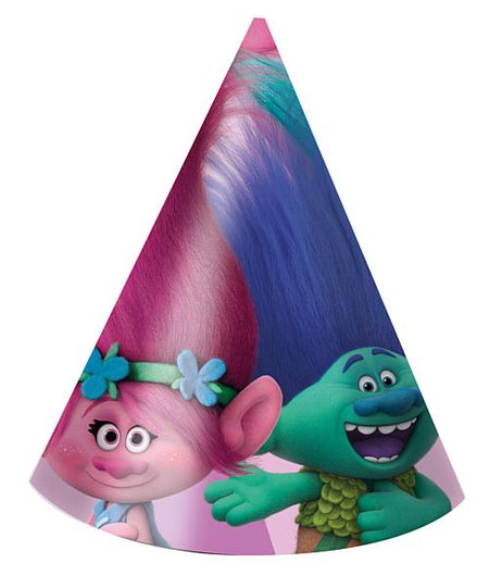 Click to view product details and reviews for Trolls Party Hats Pack Of 6.