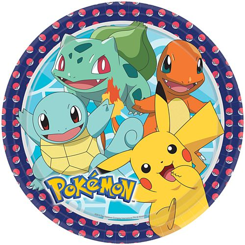 Pokemon Paper Plates - 23cm - Pack of 8
