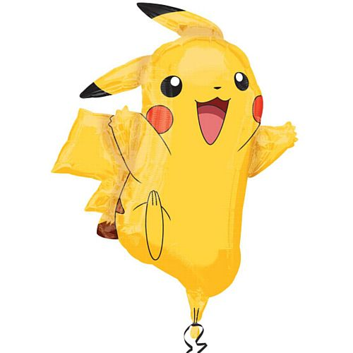 Giant Pokemon Pikachu Foil Shape Balloon - 78cm