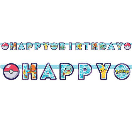 Click to view product details and reviews for Pokemon Happy Birthday Letter Banner 22m.
