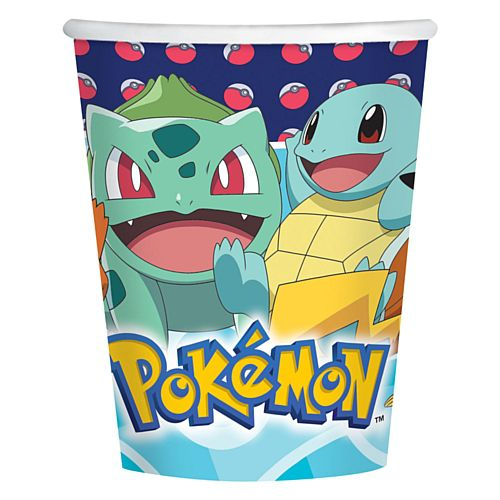Pokemon Paper Cups - 250ml - Pack of 8