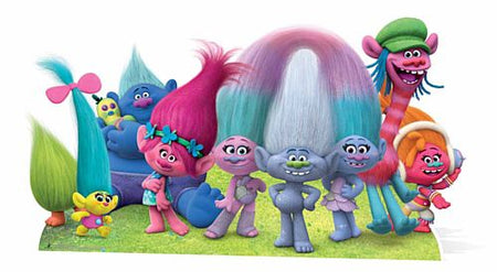 Trolls Group Cutout - 1.49m