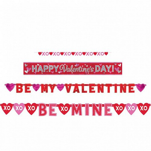 Valentine's Day Letter Banners - Pack of 4