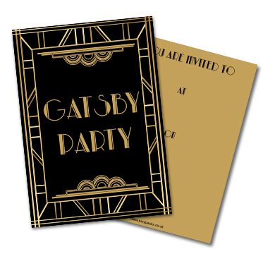 Gatsby 1920's Invites- Pack Of 8