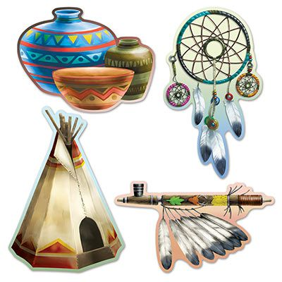 Native American Cutouts- Set of 4 - 40cm