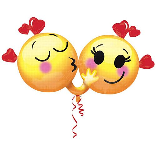 Emoticons In Love Supershape Foil Balloon - 36""