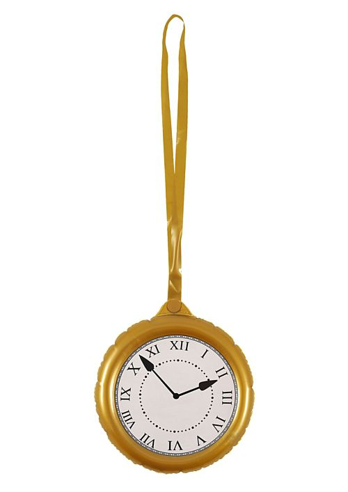 Inflatable Jumbo Clock with Necklace - 24.5cm