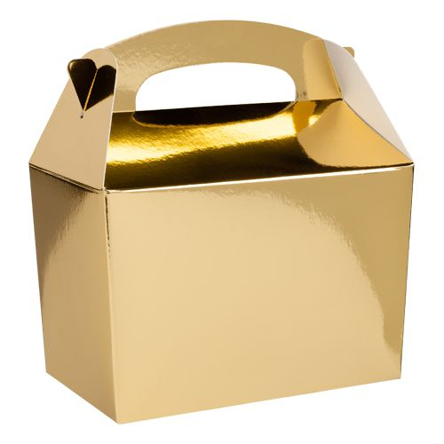 Metallic Gold Party Boxes - Pack of 250