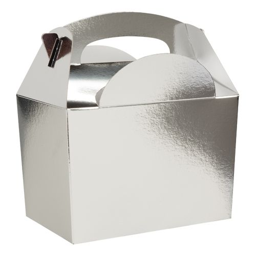 Metallic Silver Party Boxes - Pack of 250