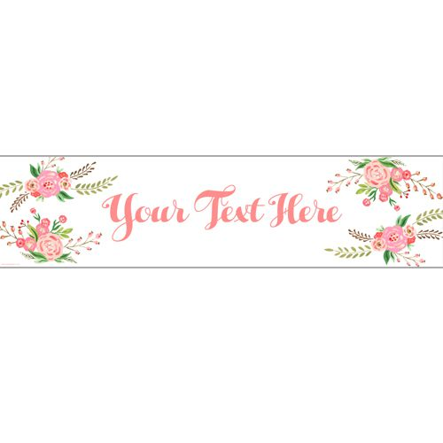 Boho Flowers Personalised Banner - 1.2m