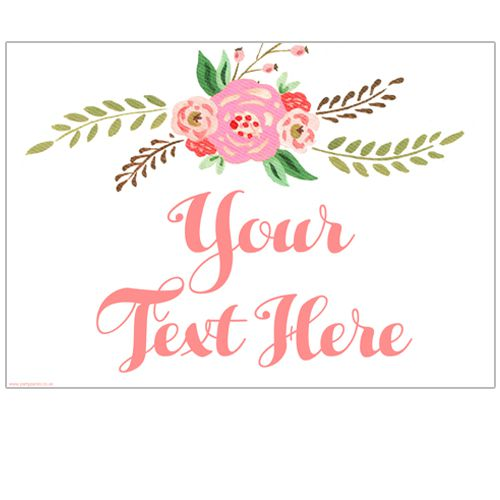 Boho Flowers Personalised Poster- A3