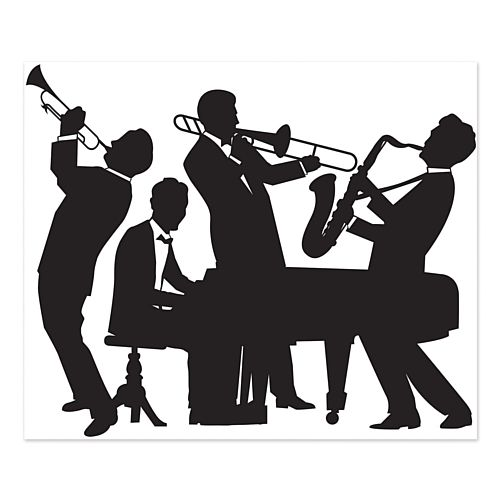 Jazz Band Plastic Wall Decoration - 1.82m