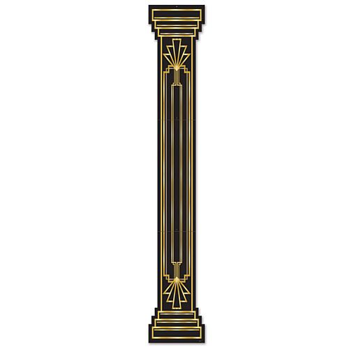 Gatsby Black and Gold Column Cutout - 1.83m