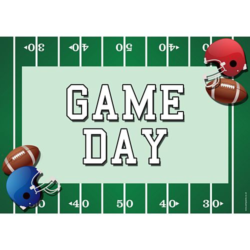 American Football Game Day Poster - A3