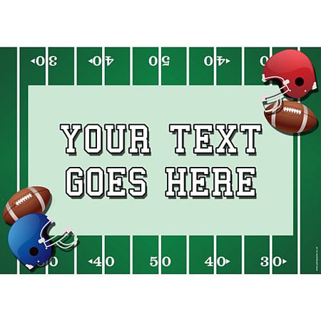 American Football Personalised Poster - A3