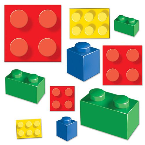 Building Blocks Cutout Wall Decorations - Pack of 20