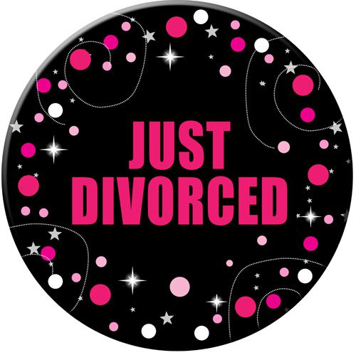 Just Divorced Badge- 58mm- Each
