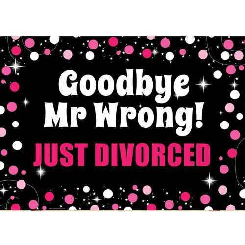 Just Divorced Banner Free At Last Divorce Party Decorations Bunting Celebrations