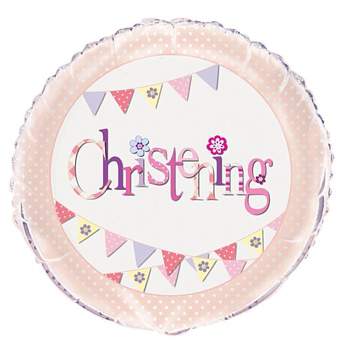 Pink Christening Foil Balloon - 18""