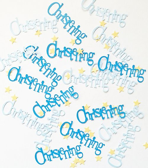 Blue Christening Confetti - 0.5oz