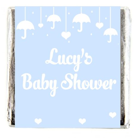 Personalised Chocolates- Blue Baby Shower- Pack 16