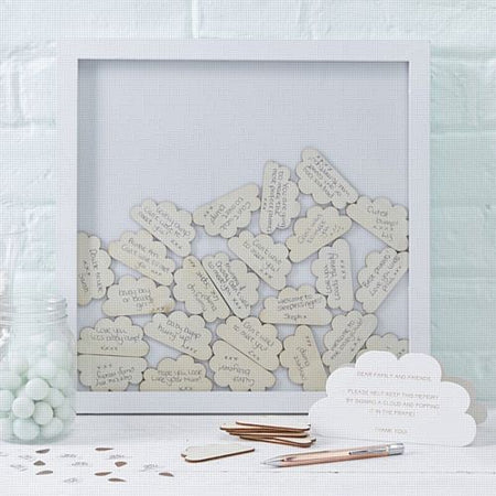Baby Shower Cloud Frame Guest Book- 40cm